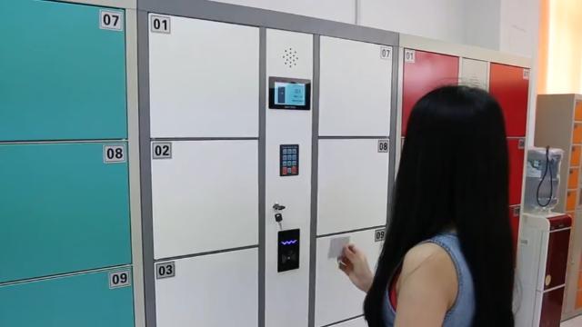 刷卡储物柜使用教程